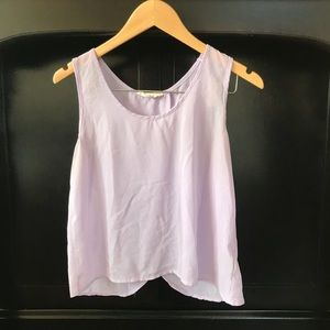 Flowy sheer lavender tank top